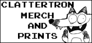 clattertron comic strip prints and merch for sale