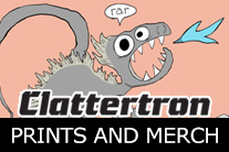 Clattertron Items on Society6.com